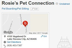 rosie's pet connection pet care and pet boarding in havasu
