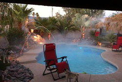 tropical resort like pool home, pet friendly vacation rental in havasu